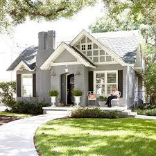 painted houses diy idea for old suitcase bricks gray and house