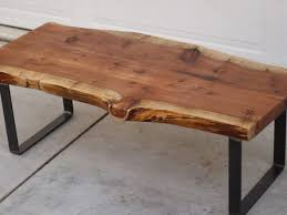 Cherry Wood Coffee Table Office Furniture Sustainable Harvested Raw Wood Coffee Table