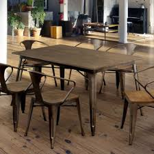 industrial kitchen table furniture oregon industrial farmhouse 59 inch dining table free shipping