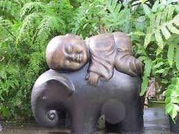 buddha elephant sturtz and copeland garden sculpture zen