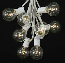clear g50 globe outdoor string light set on white wire