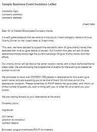 sample business event invitation letter just letter templates