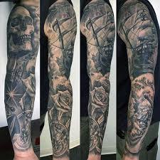 40 nautical sleeve tattoos for seafaring ink deisgn ideas