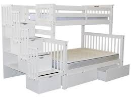 Staircase Bunk Beds Twin Over Full by Bunk Beds Twin Over Full Stairway White 2 Drawers 965