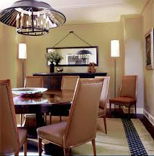 Dark Dining Room Hanging Floor Lamp Dining Room Contemporary With Circle Dark Wood