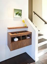 Entryway Ideas For Small Spaces by Ultra Modern Entryway Decor With Floating Console Storage Near