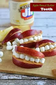 apple peanut butter teeth fun easy kid u0027s snack mom foodie