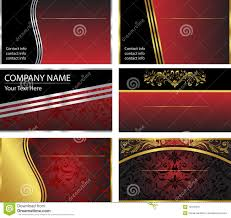 six vector business card templates royalty free stock photography