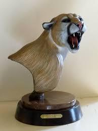 mountain lion statue bronze sculptures by bob scheelings