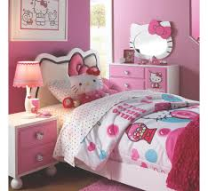 bedroom kids bedroom design with pink hello kitty comfort bed