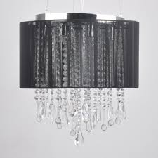 Chandelier Lamp Shades With Beads Black Lamp Shade With Crystals Fringed Also Chandelier Shades
