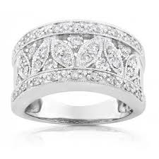 vintage bands rings images Vintage wedding ring anniversary band for her in white gold jpg