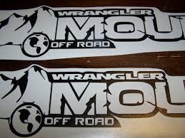 jeep wrangler logo decal jeep wrangler mountain off road hood decal set