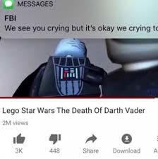 Lego Star Wars Meme - lego star wars the death of darth vader meme xyz