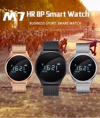 m7 smart watch for android ios system smartphones metal band