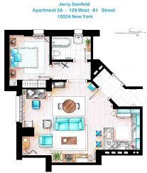 seinfeld apartment floor plan fictional floorplans broadsheet ie