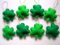 felt st s day decoration green felt shamrock ornaments