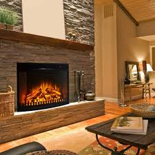 Fireplace Insert Electric 28 Inch Curved Ventless Heater Electric Fireplace Insert
