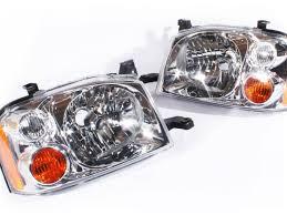 nissan headlights headlights pair left u0026 right lamps nissan navara d22 01 14 lh rh