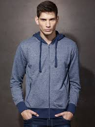 roadster navy melange hooded sweatshirt at rs 849 from myntra com