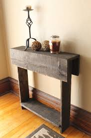 rustic entry table reclaimed wood table entry way shoe holder