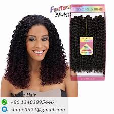 crochet black weave hair bohemian curly weave brazilian hair deep wave crochet freetress
