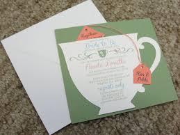 bridal shower tea party invitations bridal shower tea party cup invitation with green background and