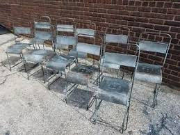 Vintage Bistro Chairs Set Of 10 Stacking Antique Vintage Bistro Chairs Tolix Style