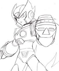 coloring pages megaman para colorear sketch coloring page