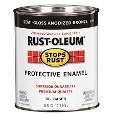 Exterior Paint Lowes - shop rust oleum stops rust anodized bronze gloss gloss oil based