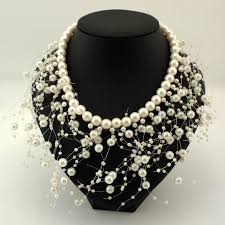beaded collar necklace jewelry images Ukmoc fashion beads collar necklace for women new wedding jpg