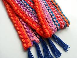 braided scarf crochet a braided scarf broomstick or cardboard craftbits