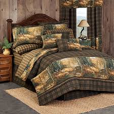 whitetail birch comforter set queen size lodge bedding cabin