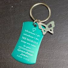 in memory of keychains personalized keychains giftsforyounow