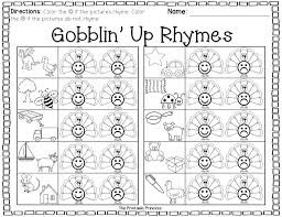 math worksheets free kindergarten rhyming forut and paste like