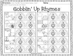 math worksheets free kindergarten rhyming forut and paste like