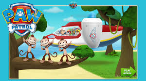 paw patrol air patroller computer game playing save island