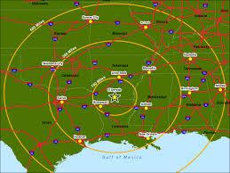 Louisiana On Map by Regional Map For El Dorado Arkansas