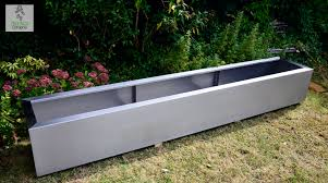 modern planters and bedding stainless steel and fiberglass