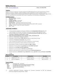 Manual Testing 2 Years Experience Resume Nikita Sharma Resume