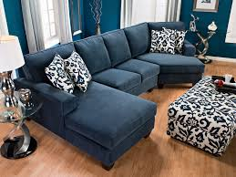 furniture ethan allen sectional sofas in blue with grey windows