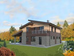 Two Storey House Two Storey House With A Loft Project Patrikas Nps Projects