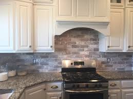 how to do tile backsplash in kitchen love brick backsplash in the kitchen easy diy install with our