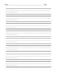 printable lined paper with dotted midline writing lined paper horizontal teaching resources teachers pay