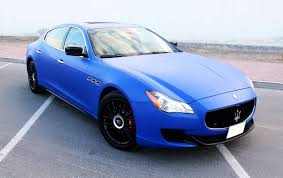 blue maserati quattroporte maserati wrapped in blue matte youtube