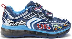 motor racing footwear geox android navy silver motor racing lights trainers little