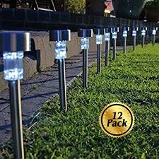 Solar Landscape Light - solar pathway lights 12 pack koolife stainless steel led path