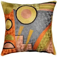 Modern Cushions For Sofas Kandinsky Soul Flood Ii Decorative Pillow Cover Silk