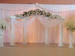 wedding backdrop on stage simple wedding background decoration dreamy indoor wedding