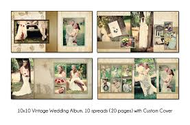 wedding album templates psd wedding album template vintage 10x10 10spread 20 page